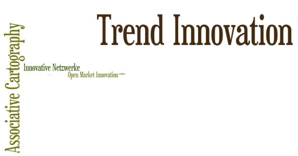 "Abb. 5 : Tag Cloud, Auszug aus Abb.4, Zoom 104 , Begriff ""Trend Innovation"" mit 0,03 Mio. Treffern"